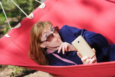 Cell phone hammock