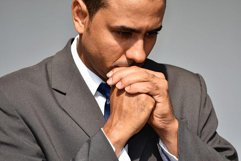 Latino Man Stressed