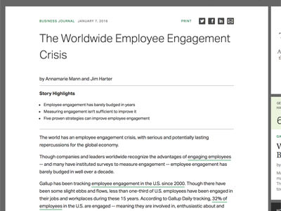 gallup employee crisis article