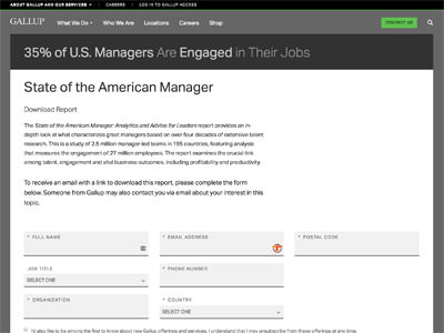 state american manager gallup report
